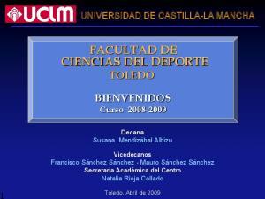 FACULTAD DE CIENCIAS DEL DEPORTE TOLEDO