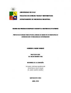 FACULTAD DE CIENCIAS FISICAS Y MATEMATICAS DEPARTAMENTO DE INGENIERIA INDUSTRIAL