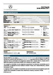 FACULTAD DE DERECHO 1 Segundo cuatrimestre Programa Doble Titulación Derecho-Criminología