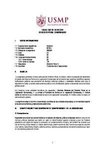 FACULTAD DE DERECHO DERECHO PENAL COMPARADO