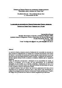Facultad de Derecho - Universidad de Buenos Aires 1 y 2 de noviembre de 2012
