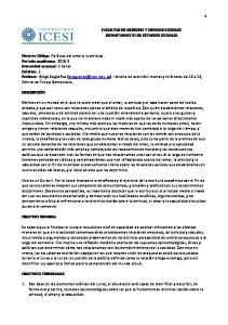 FACULTAD DE DERECHO Y CIENCIAS SOCIALES DEPARTAMENTO DE ESTUDIOS SOCIALES