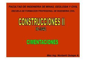 FACULTAD DE INGENIERIA DE MINAS, GEOLOGIA Y CIVIL ESCUELA DE FORMACION PROFESIONAL DE INGENIERIA CIVIL