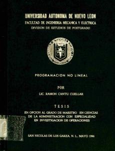 FACULTAD DE INGENIERIA MECANICA Y HJECTRICA POR