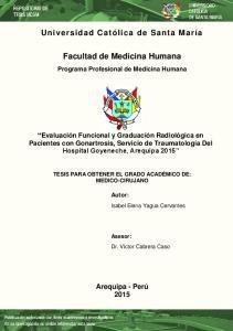 Facultad de Medicina Humana