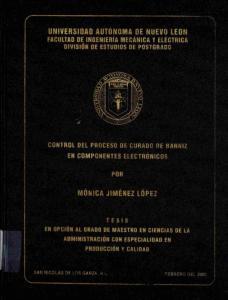 FACULTAS DE INGENIERIA MECANICA ELECTRICA DIVISIÓN DE ESTUDIOS DE PGSTGRABQ