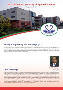 Faculty of Engineering and Technology (FET)