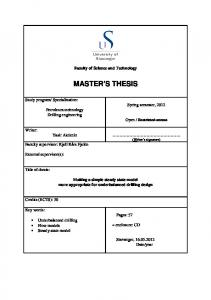 Faculty of Science and Technology MASTER S THESIS. Yasir Akdeniz