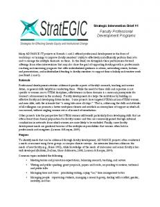 Faculty Professional Development Programs