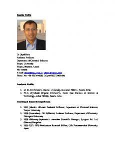Faculty Profile. Academic Profile: