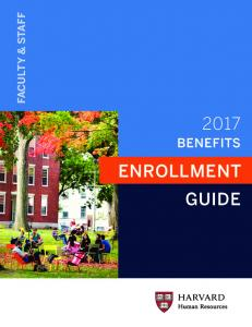 FACULTY & STAFF BENEFITS ENROLLMENT GUIDE