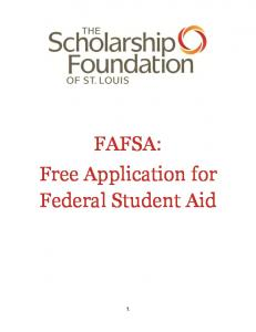 FAFSA: Free Application for Federal Student Aid