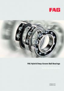 FAG Hybrid Deep Groove Ball Bearings Technical Information
