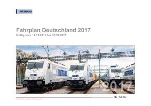 Fahrplan Deutschland 2017