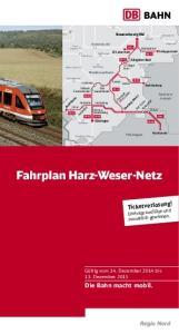 Fahrplan Harz-Weser-Netz
