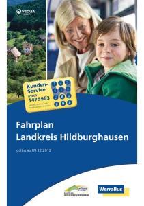 Fahrplan Landkreis Hildburghausen