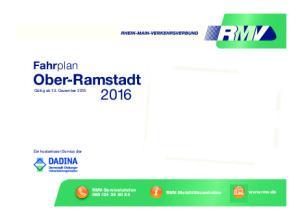 Fahrplan Ober-Ramstadt