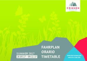 FAHRPLAN ORARIO TIMETABLE