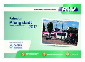 Fahrplan Pfungstadt 2017