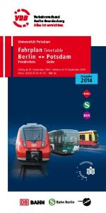 Fahrplan Timetable Berlin  Potsdam