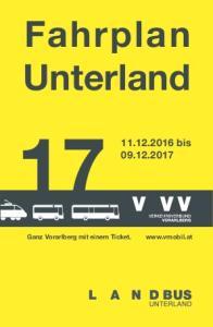 Fahrplan Unterland