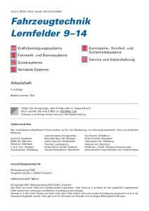 Fahrzeugtechnik Lernfelder 9 14