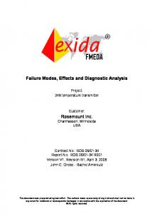 Failure Modes, Effects and Diagnostic Analysis
