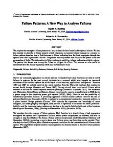 Failure Patterns: A New Way to Analyze Failures