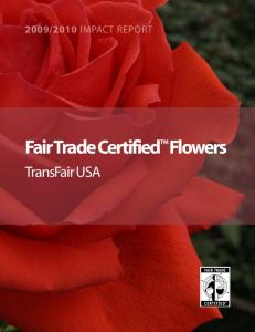Fair Trade Certified Flowers