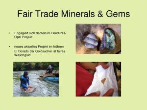 Fair Trade Minerals & Gems
