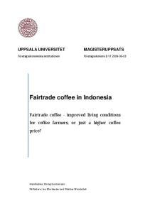 Fairtrade coffee in Indonesia