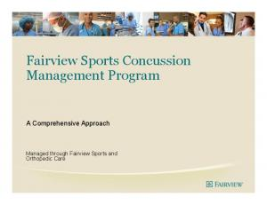 Fairview Sports Concussion Management Program