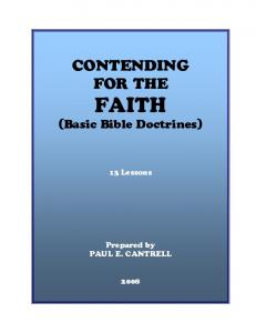 FAITH (Basic Bible Doctrines)