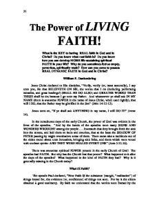 FAITH! William F. Dankenbring