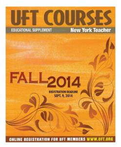 FALL 2014 UFT REGISTRATION COUPON