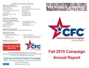 Fall 2015 Campaign Annual Report