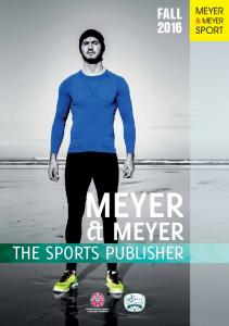 FALL 2016 MEYER & MEYER THE SPORTS PUBLISHER