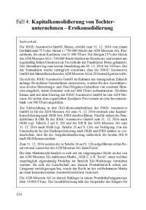 Fall 4: Kapitalkonsolidierung von Tochterunternehmen