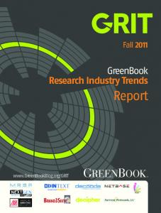 Fall GreenBook Research Industry Trends. Report