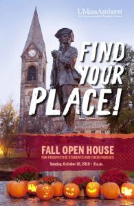 FALL OPEN HOUSE FOR PROSPECTIVE STUDENTS AND THEIR FAMILIES