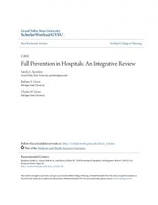 Fall Prevention in Hospitals: An Integrative Review
