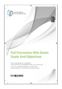 Fall Prevention With Smart Goals And Objectives