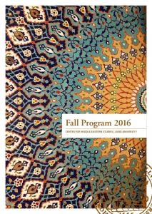 Fall Program 2016 CENTER FOR MIDDLE EASTERN STUDIES LUND UNIVERSITY