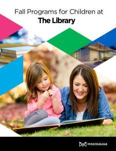 Fall Programs for Children at