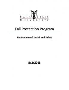 Fall Protection Program. Environmental Health and Safety