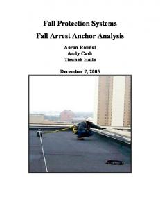 Fall Protection Systems Fall Arrest Anchor Analysis