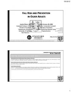 FALL RISK AND PREVENTION