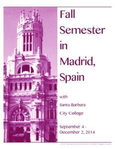 Fall Semester in Madrid, Spain