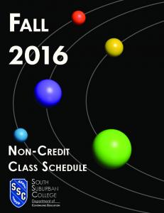 Fall South Suburban College Department of Continuing EduCation
