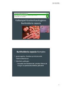 Fallbeispiel Krankenhaushygiene: Burkholderia cepacia